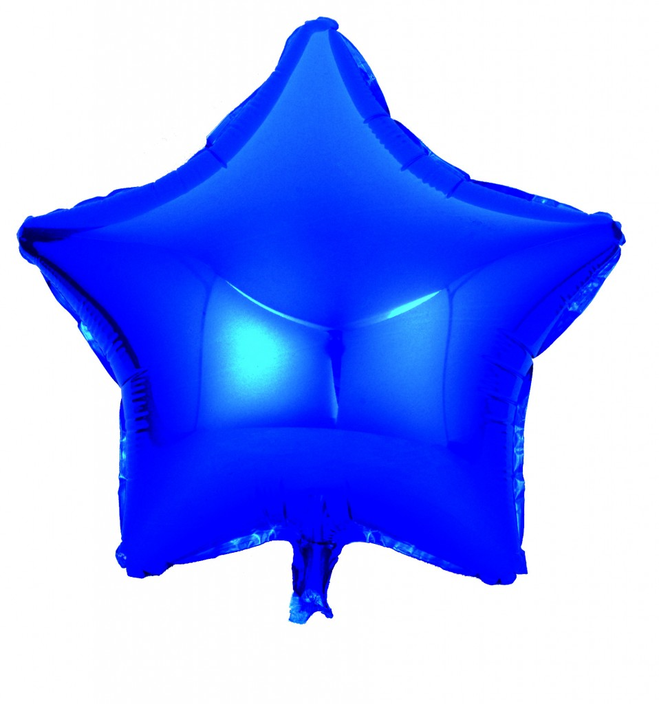 Blue star foil balloons | China foil balloons manufacturer