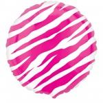 Pink Zebra Print Foil Balloon