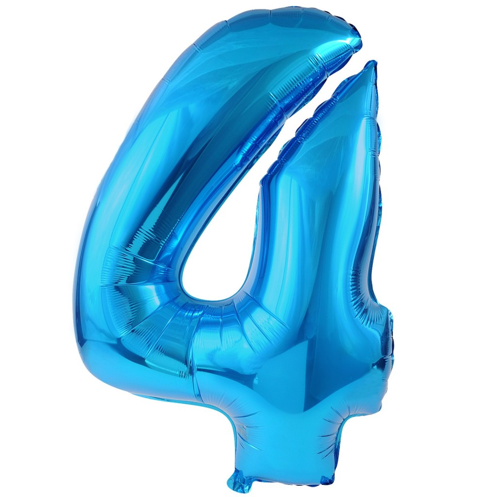 #4 Blue Foil Balloon