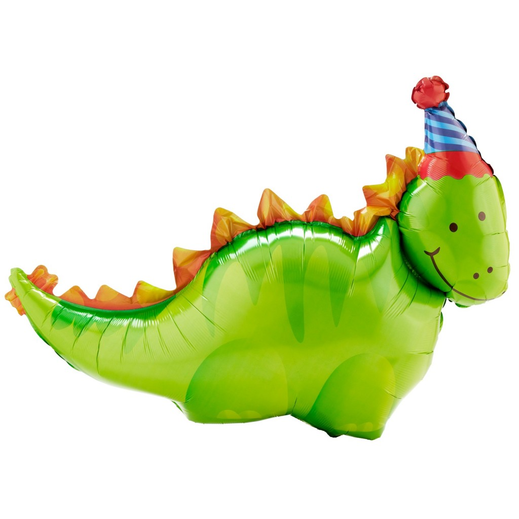 Dino Birthday foil balloons