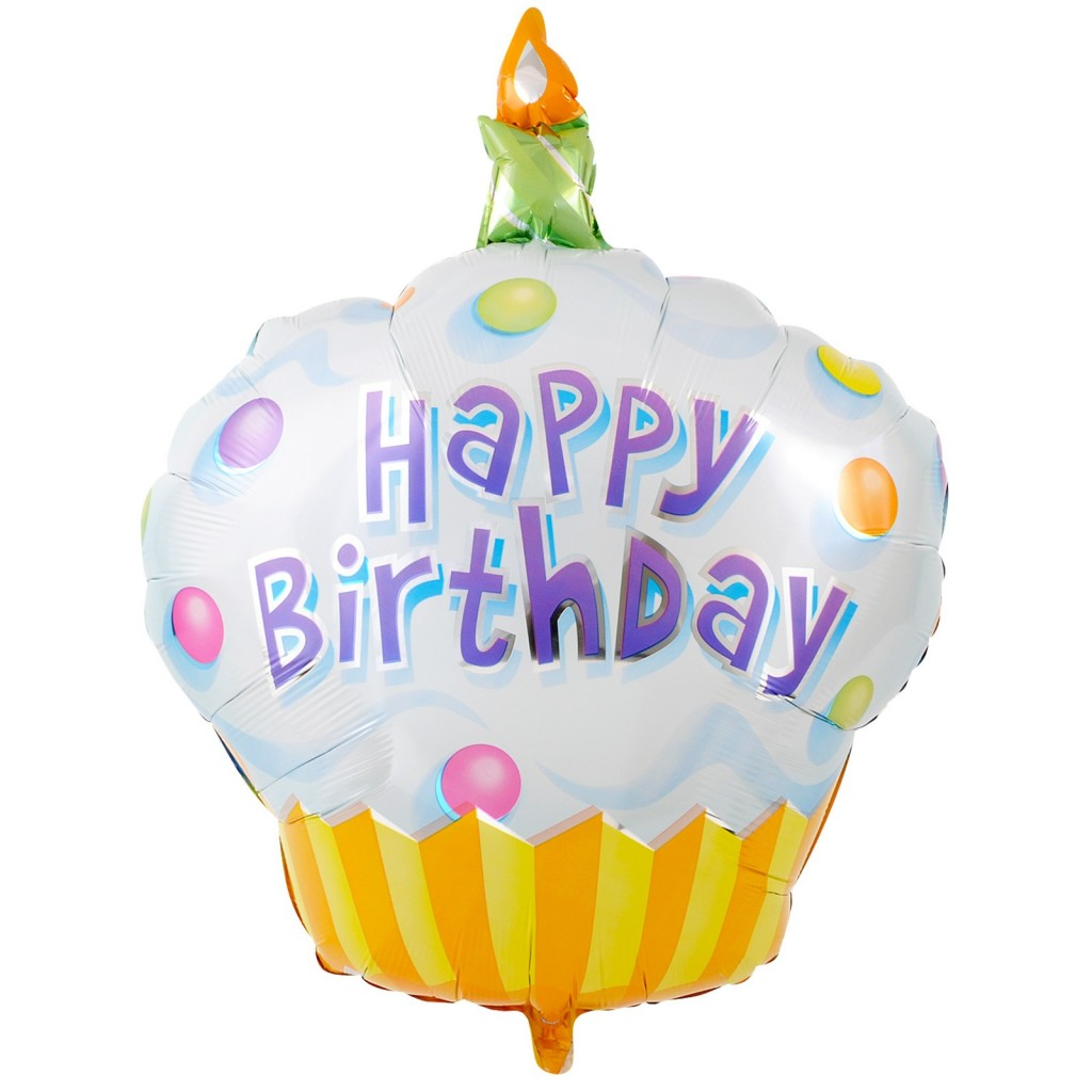 Happy Birthday Yellow Cupcake