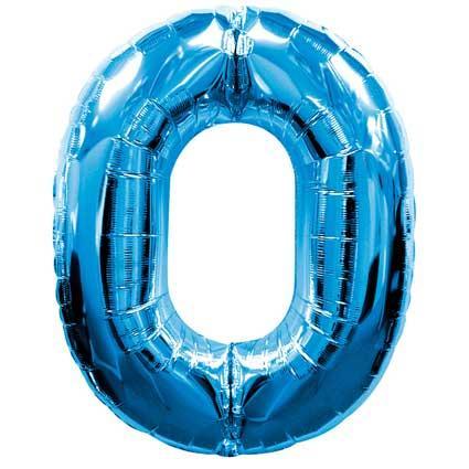 blue 0 foil balloons