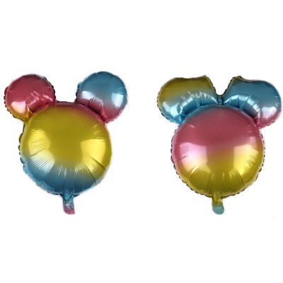 Rainbow Mickey & Minnie Foil Balloon