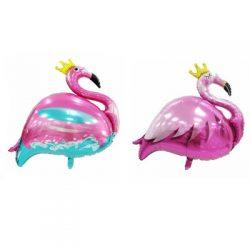 Flamingo With Crown Foil Balloon