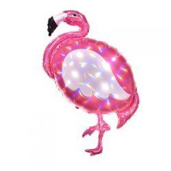 Pink Flamingo Iridescent Supershape Balloons