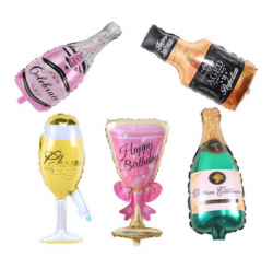 Champagne Glass Supershape Balloons