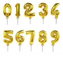 Mini Number Foil Balloon on cake