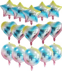 Heart& Star& round foil balloons