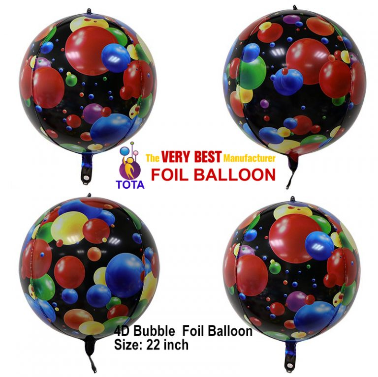 4D bubble foil balloon