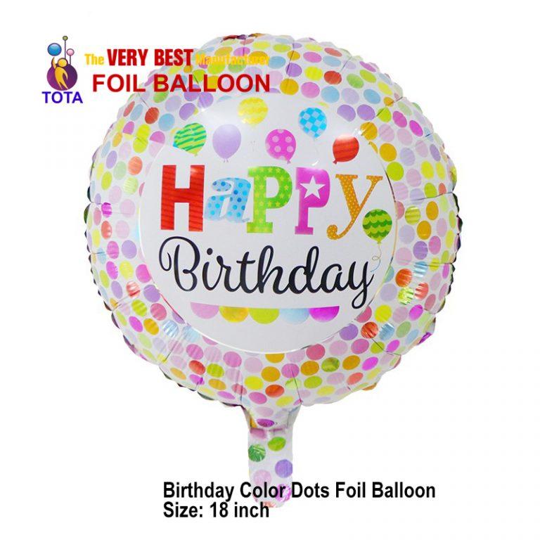 Birthday Color Dots Foil Balloon