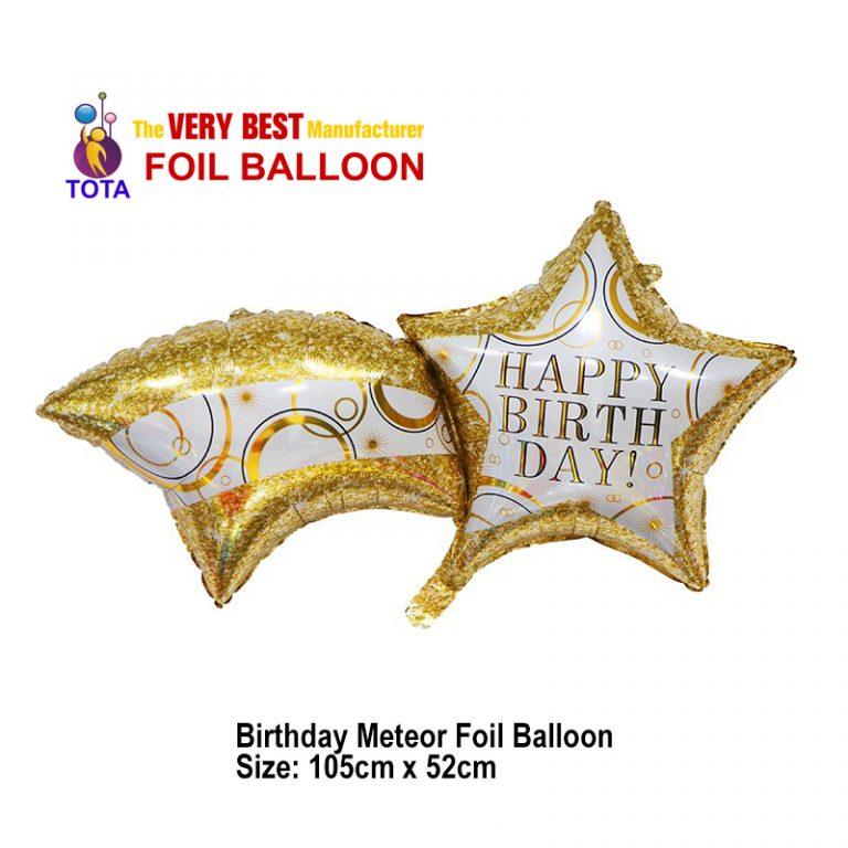 Birthday Meteor Foil Balloon