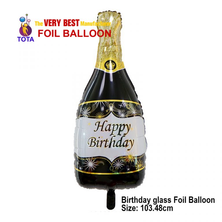Birthday glass Foil Balloon
