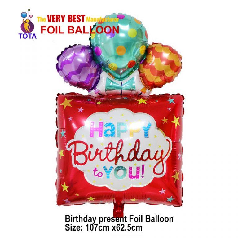 Birthday present Foil Balloon