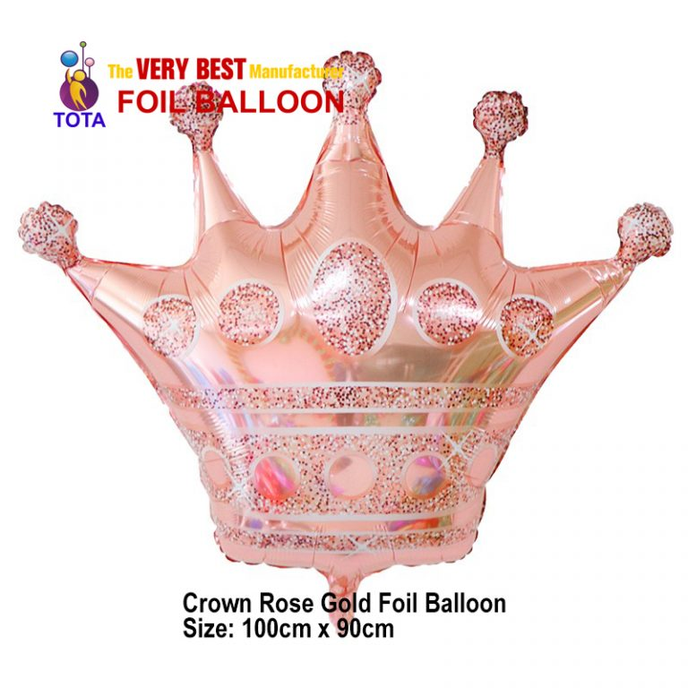 Crown Rose Gold Foil Balloon