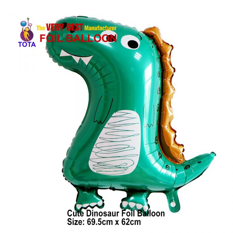Cute Dinosaur Foil Balloon