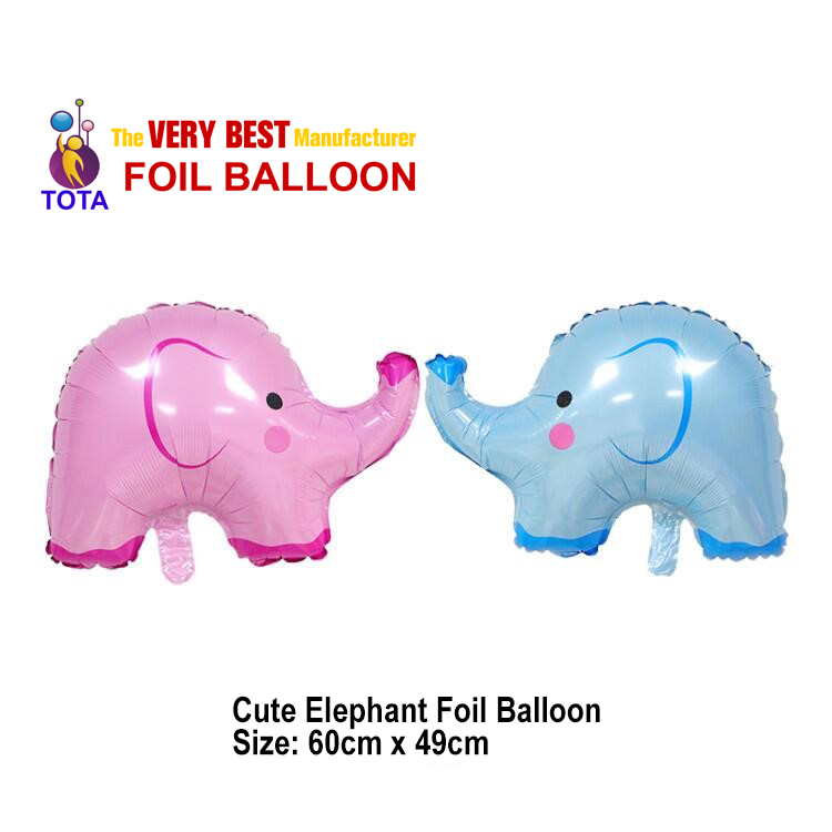Cute Elephant Foil Balloon