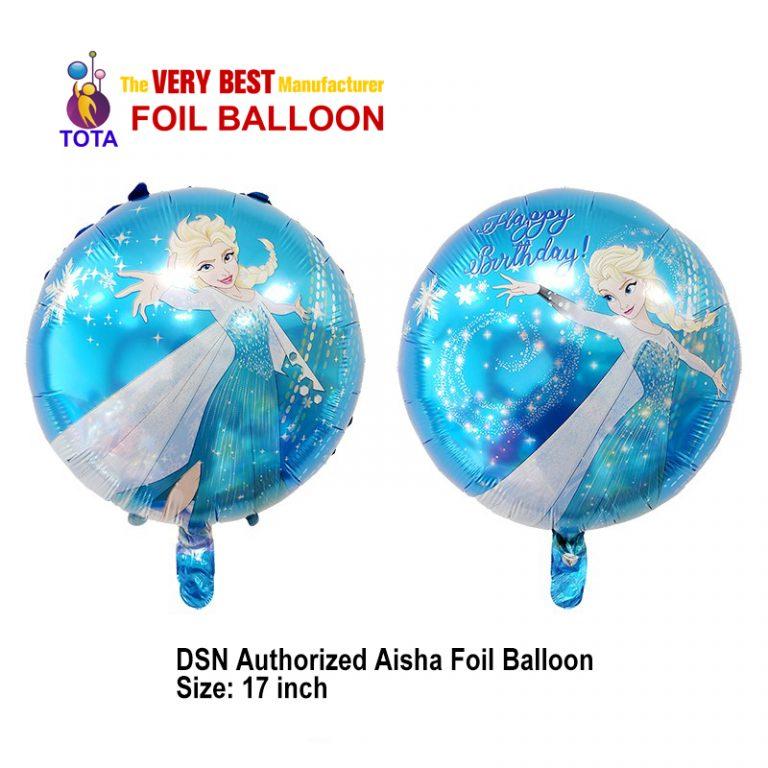 DSN Authorized Aisha Foil Balloon