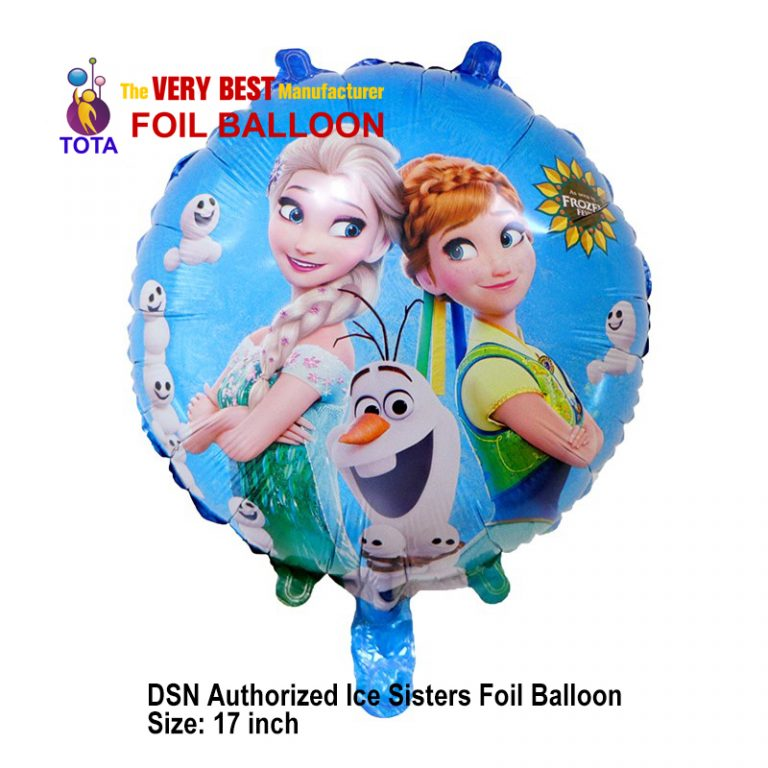 DSN Authorized Ice Sisters Foil Balloon