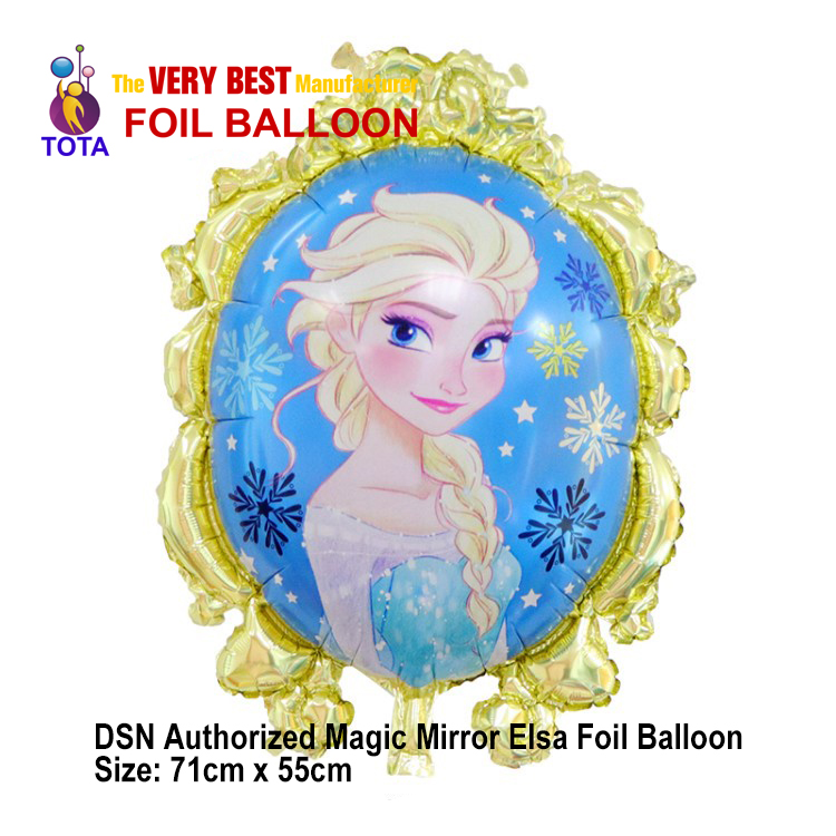 DSN Authorized Magic Mirror Elsa Champagne gold Foil Balloon-1