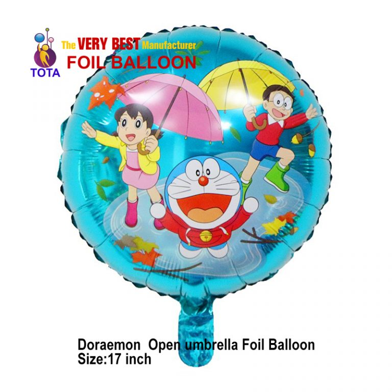 Doraemon Open umbrella Foil Balloon