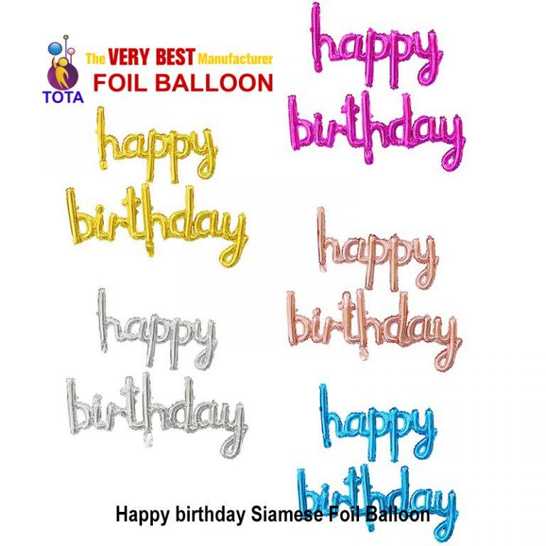 Happy birthday Siamese Foil Balloon