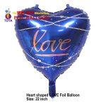 Heart shaped LOVE Foil Balloon