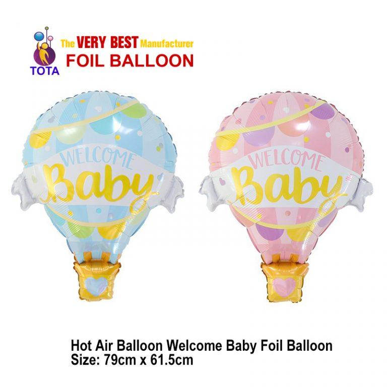 Hot Air Balloon Welcome Baby Foil Balloon