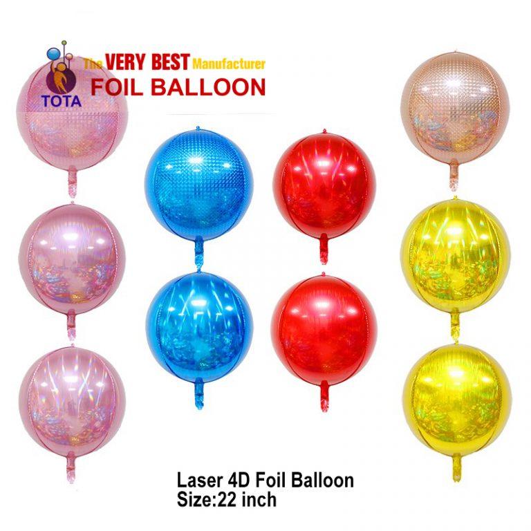 Laser 4D Foil Balloon