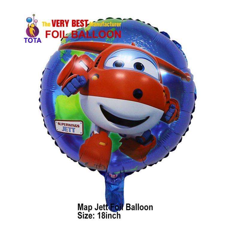 Map Jett Foil Balloon