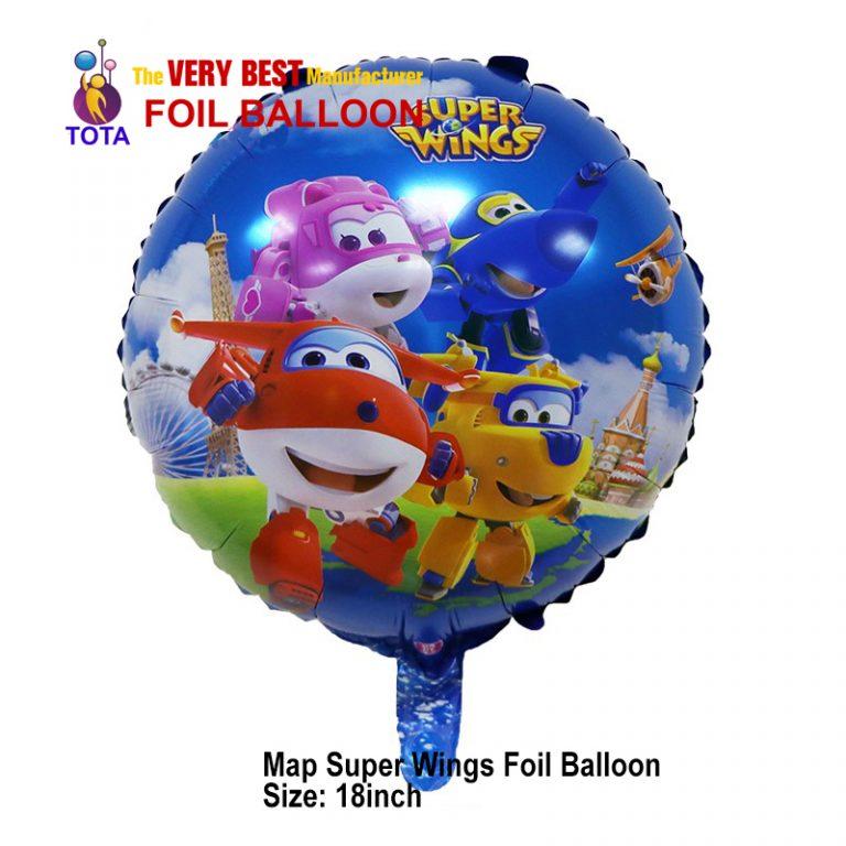 Map Super Wings Foil Balloon