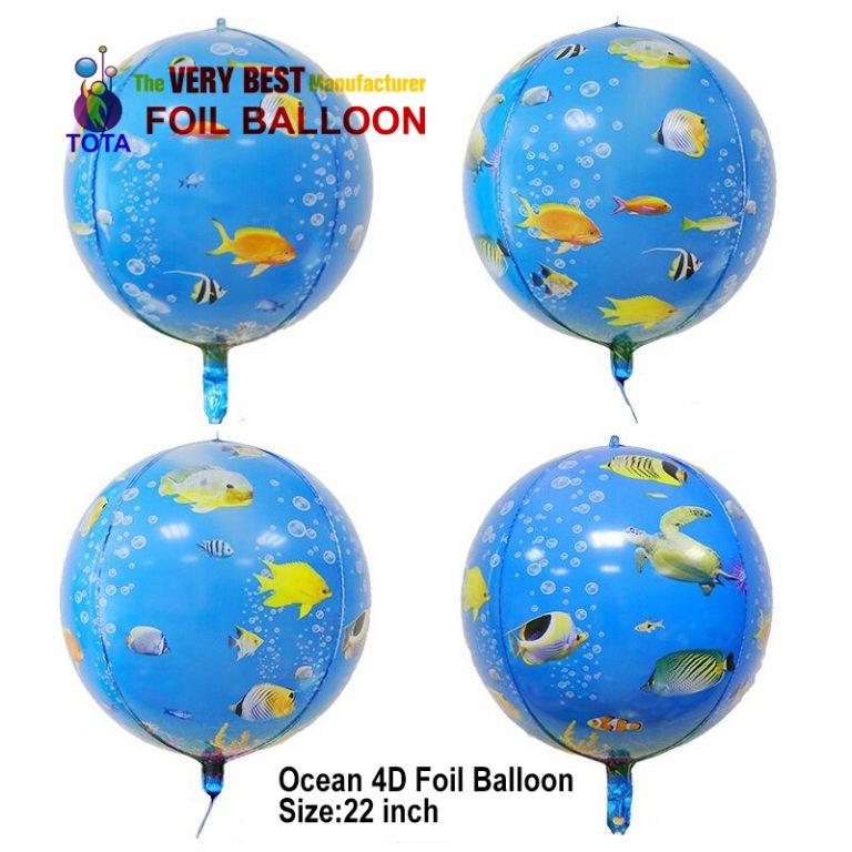 Ocean 4D Foil Balloon