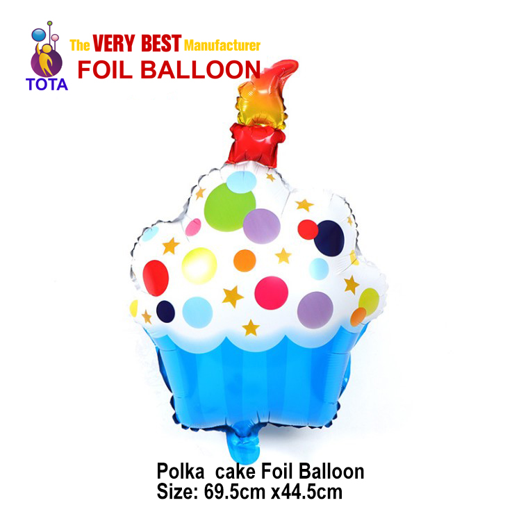 Polka cake Foil Balloon