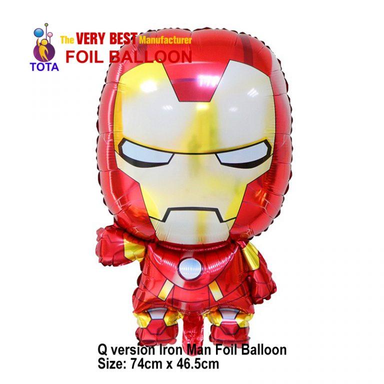 Q version Iron Man Foil Balloon