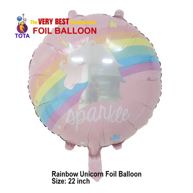 Rainbow Unicorn Foil Balloon