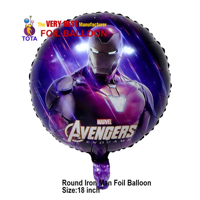 Round Iron Man Foil Balloon