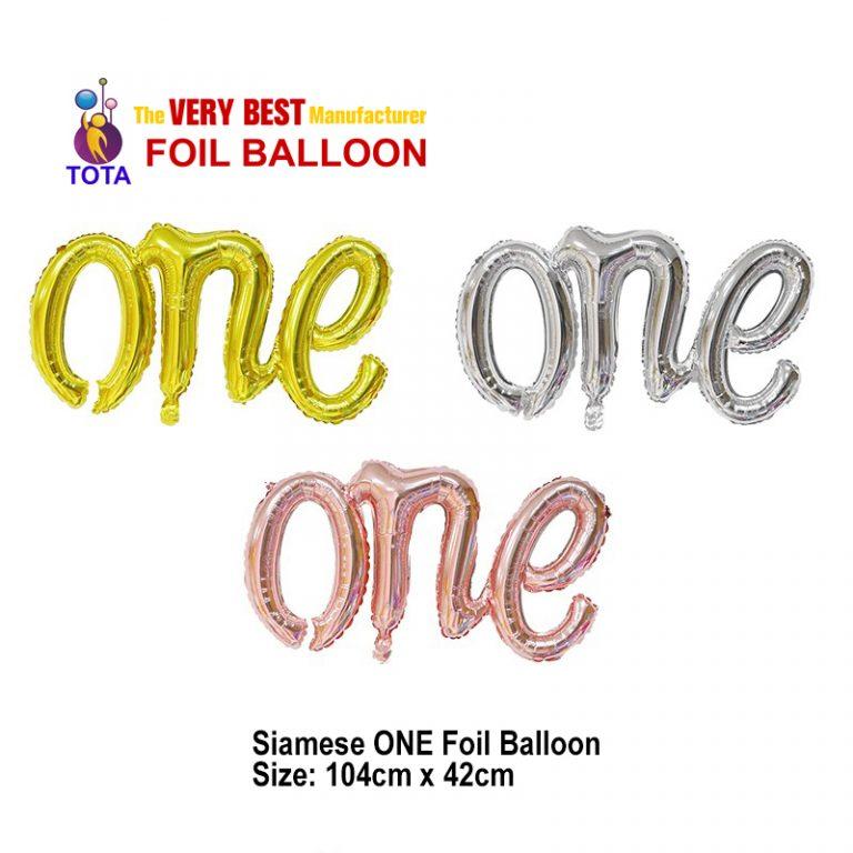 Siamese ONE Foil Balloon