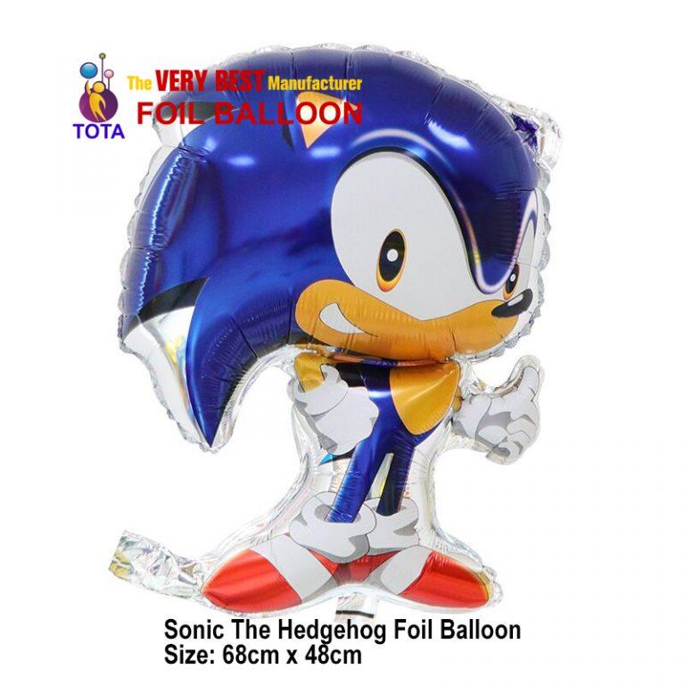 Sonic The Hedgehog Foil Balloon
