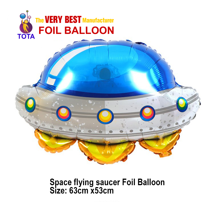 Space flying saucer Foil Balloon