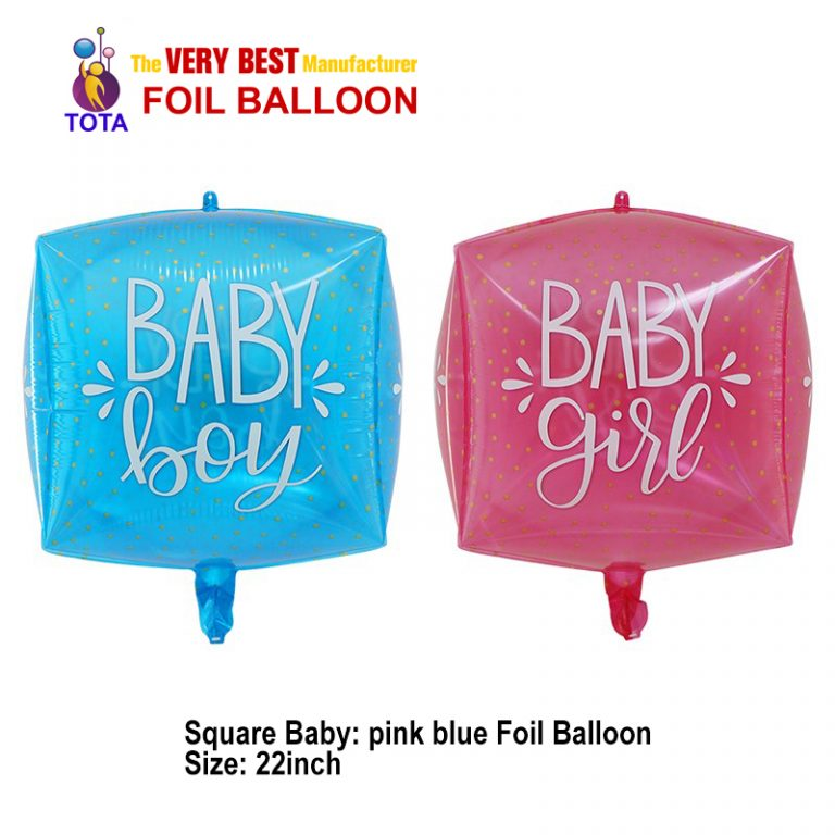 Square Baby Foil Balloon