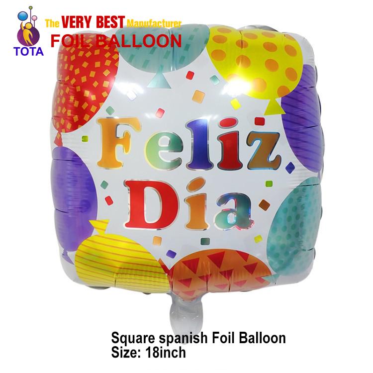 Square spanish Foil Balloon