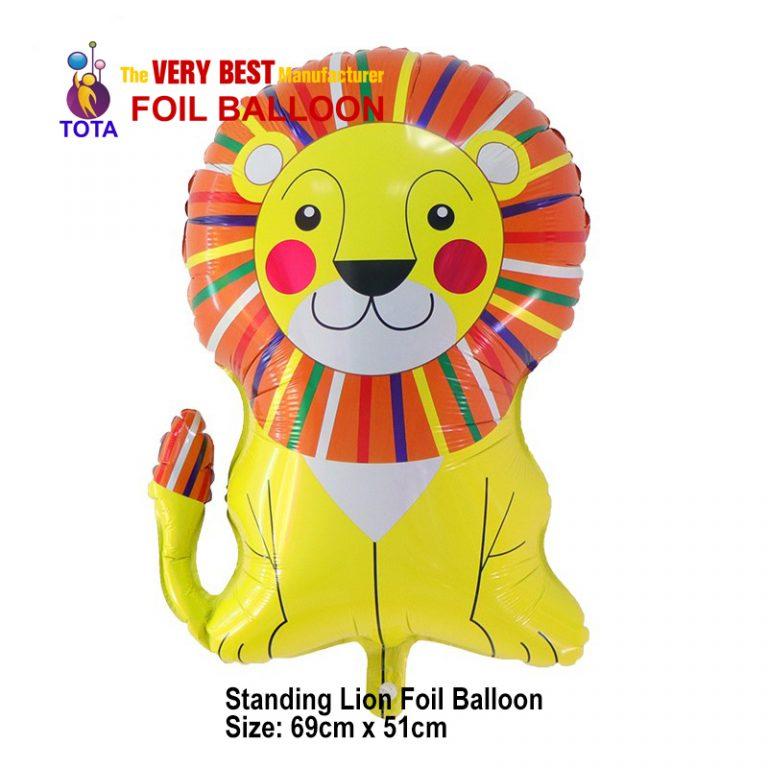 Standing Lion Foil Balloon