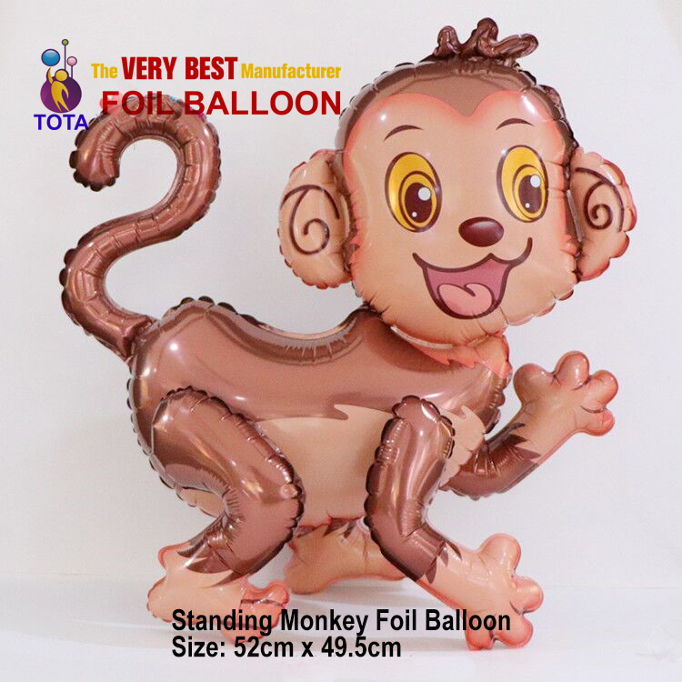 Standing Monkey Foil Balloon