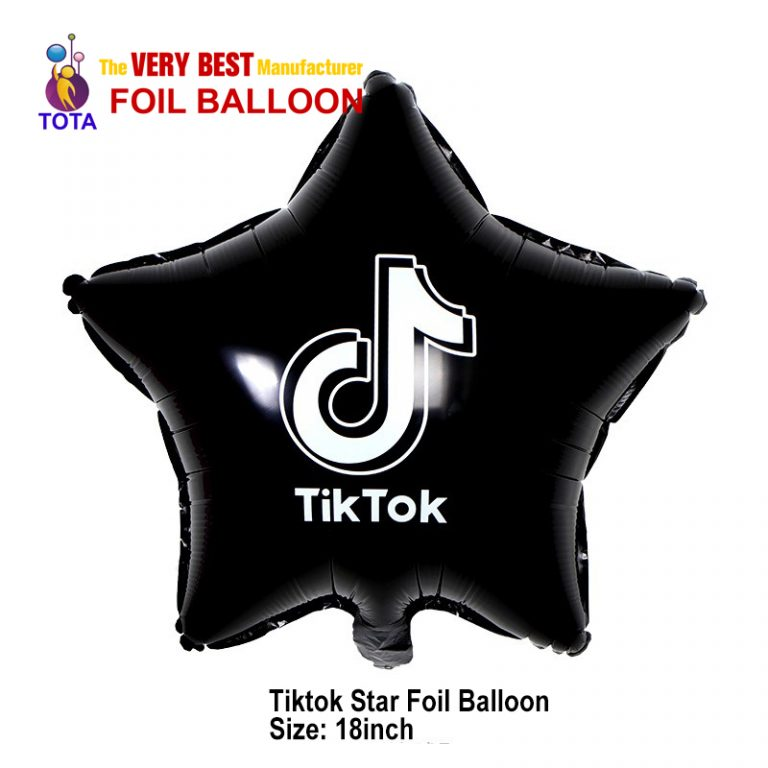 Tiktok Star foil balloon